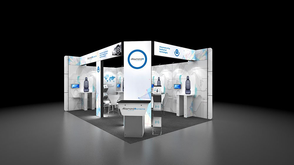 Exhibition Stand Lighting Qld : Corner exhibition stand re