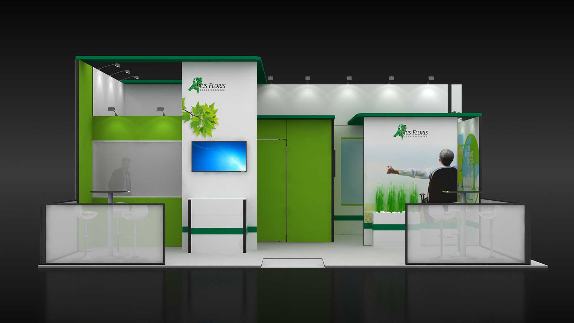 Portable exhibition display stands