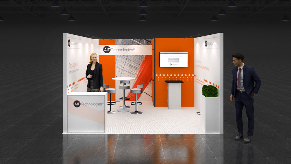 Expo Stand Backdrop : Row exhibition stand re