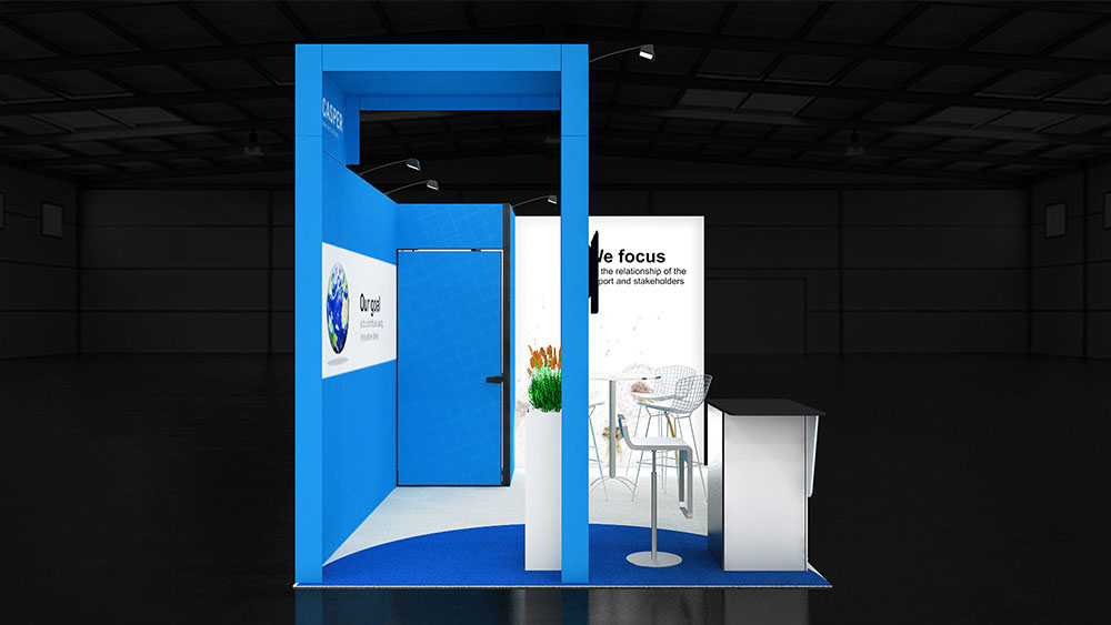 Corner Exhibition Stands Day : Corner exhibition stand re