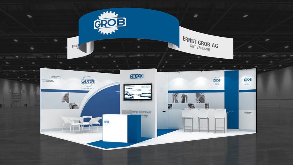 Exhibition Stand Services : 7x5 corner exhibition stand re7x5 209