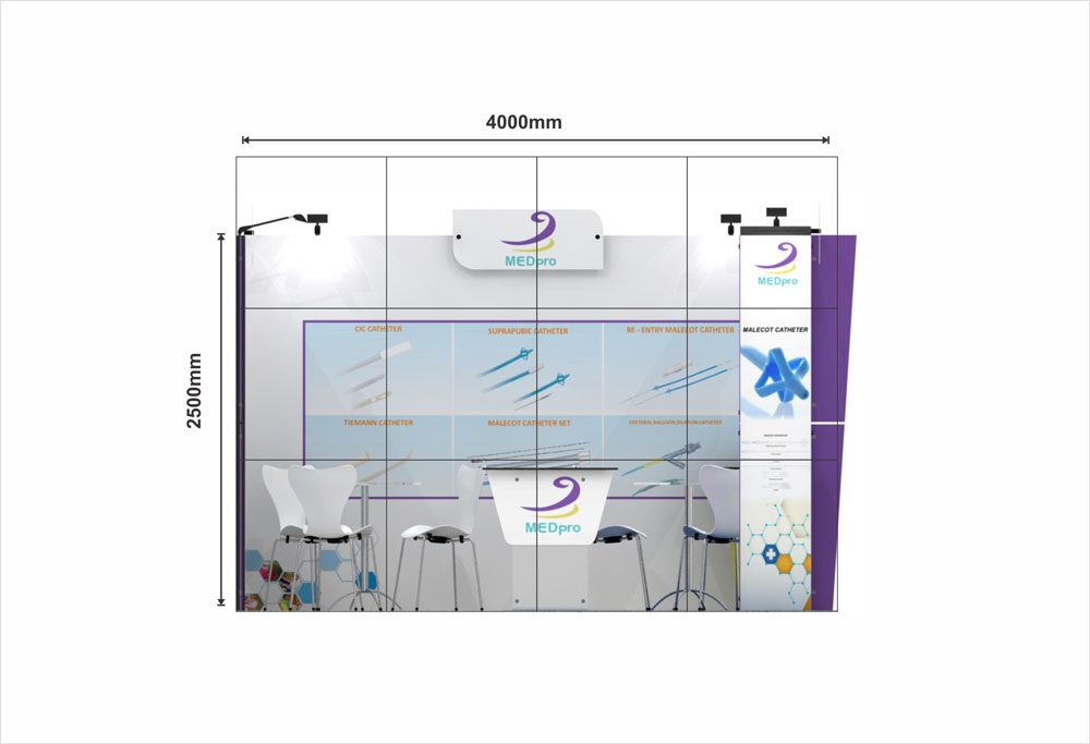 Exhibition Stand Drawing : 4x3 corner exhibition stand re4x3 124