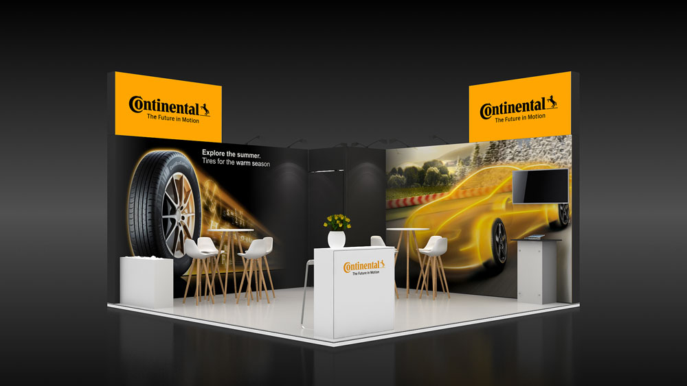 Modular Exhibition Stands Designs : Corner exhibition stand re