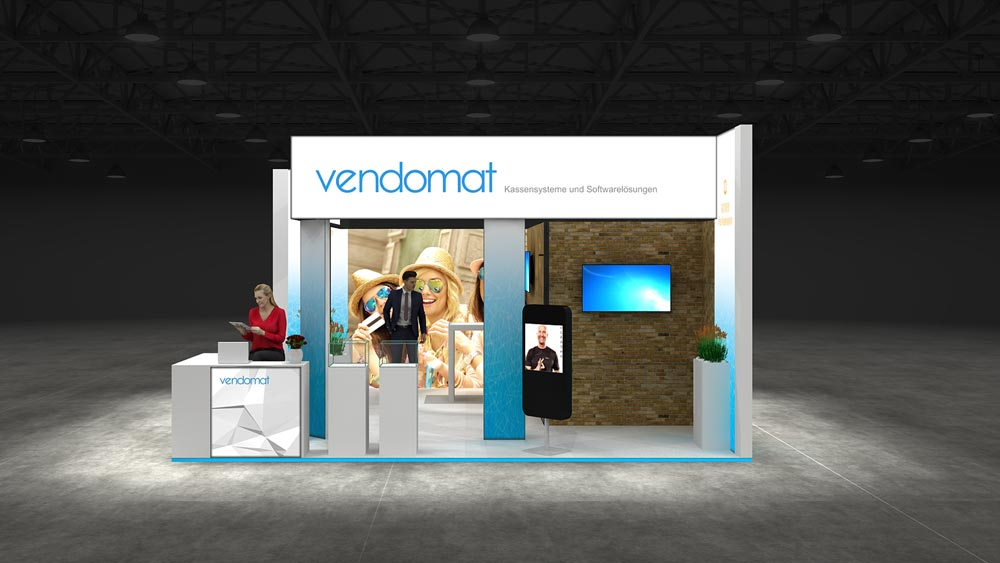 Exhibition Stand Fascia : Corner exhibition stand re