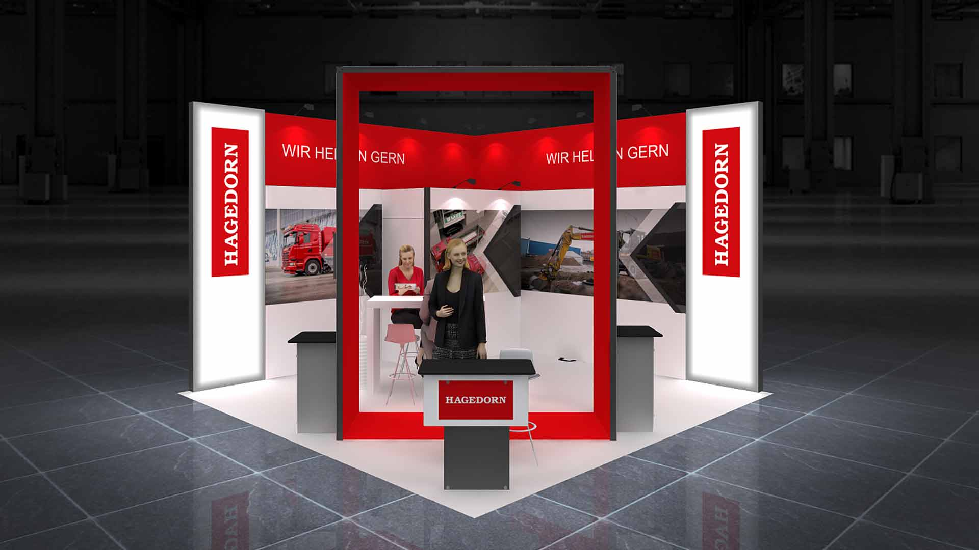 Exhibition Stand Design Nottingham : Corner exhibition stand re