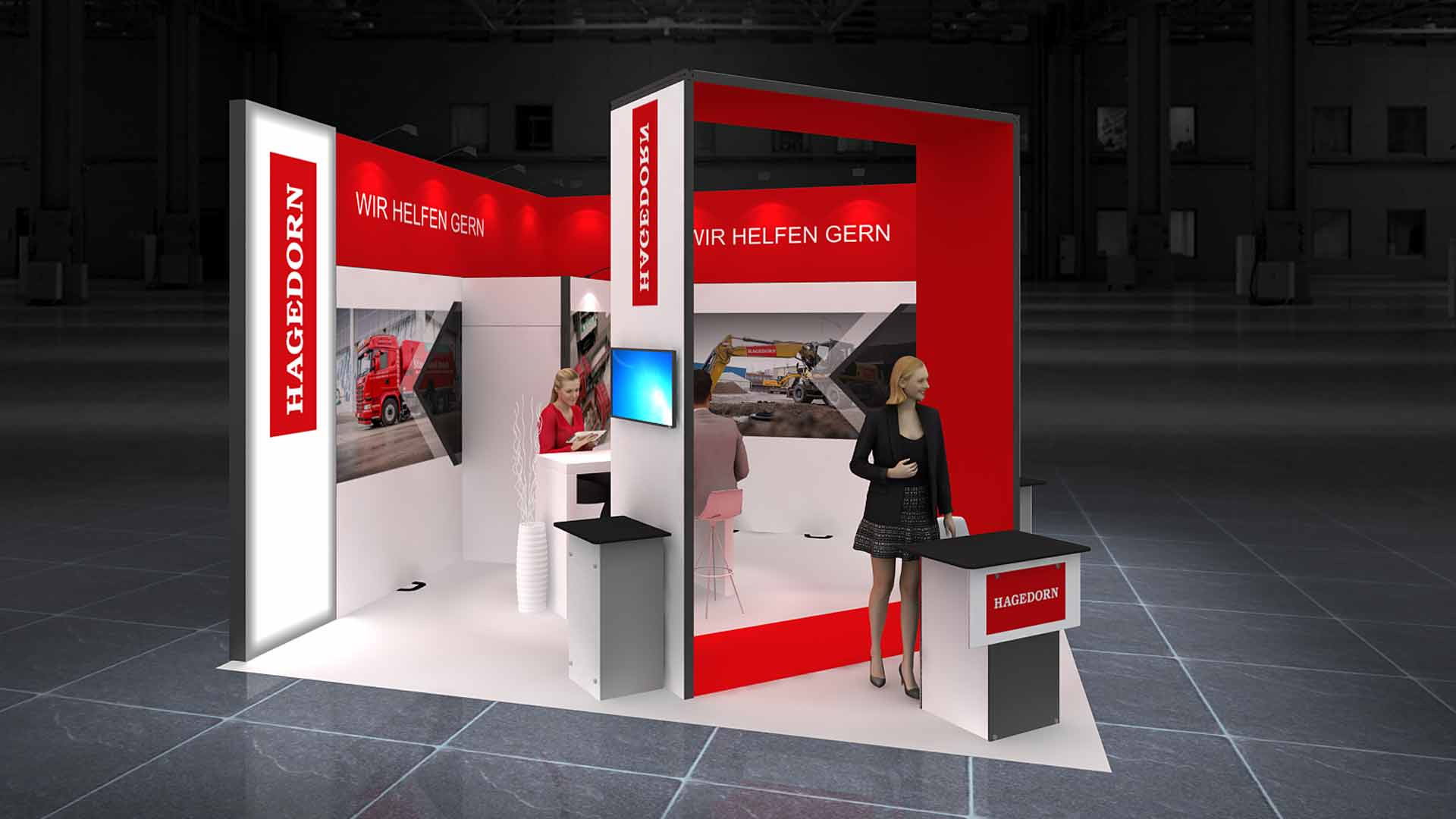 Corner Exhibition Stands Canada : Corner exhibition stand re