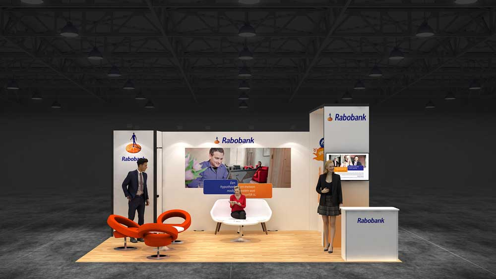 Corner Exhibition Stands Canada : Two corner exhibition stand re