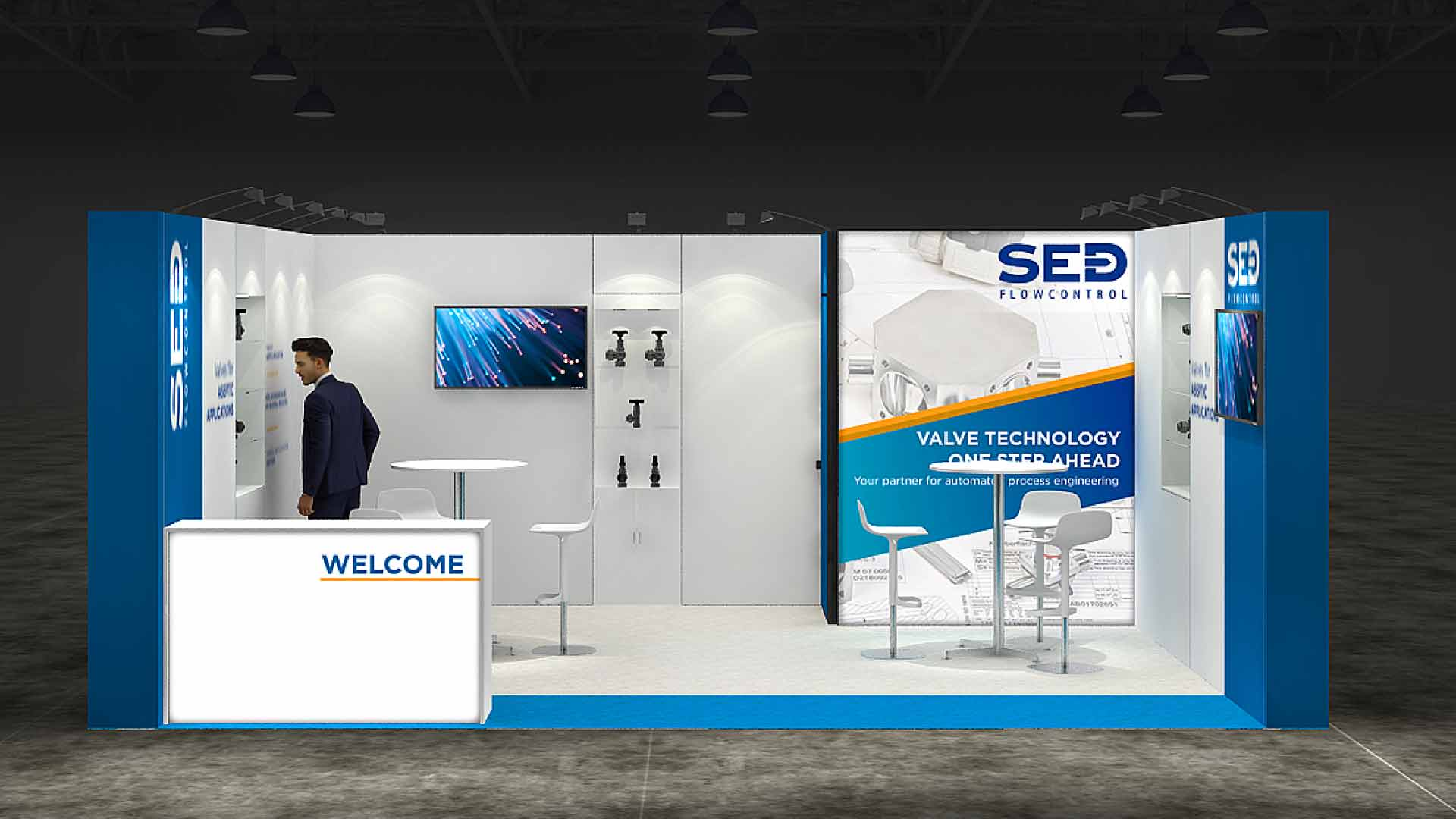 Portable Exhibition Stands Dubai : Row exhibition stand re