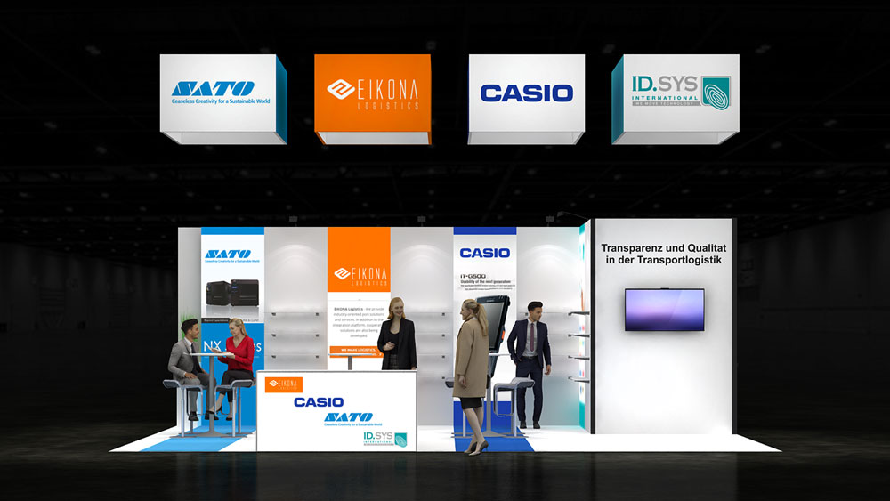 Corner Exhibition Stands Day : Two corner exhibition stand re