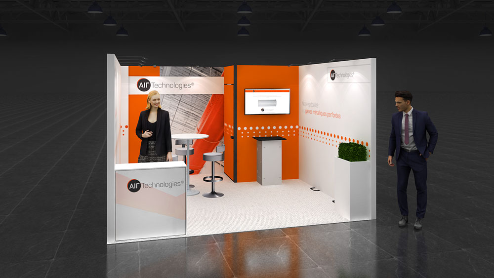 Modular Exhibition Stand Job : Row exhibition stand re