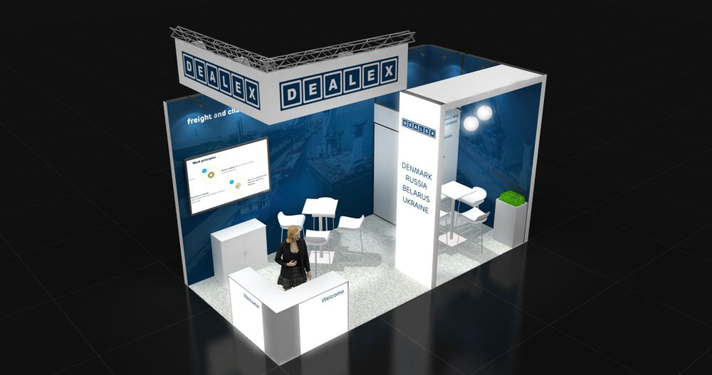 Expo Stand Bielorussia : Corner exhibition stand re