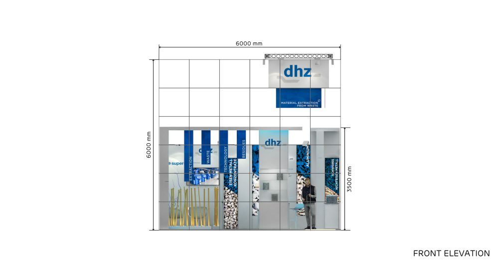 Exhibition Stand Drawing : 6x6 corner exhibition stand re6x6 810